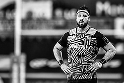 Ospreys' Scott Baldwin<br /> <br /> Photographer Craig Thomas/Replay Images<br /> <br /> EPCR Champions Cup Round 4 - Ospreys v Northampton Saints - Sunday 17th December 2017 - Parc y Scarlets - Llanelli<br /> <br /> World Copyright © 2017 Replay Images. All rights reserved. info@replayimages.co.uk - www.replayimages.co.uk
