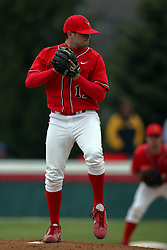 15 February 2007: Mike Hlavacek. Indiana State Sycamores gave up the first game of the double-header by a score of 16-6 to the Illinois State Redbirds at Redbird Field on the campus of Illinois State University in Normal Illinois.
