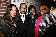 """l to r: Valiesha Butterfield, Rev. Dr. Ben Chavis, Shawn Robinson, Marilyn Carwford at The Russell Simmons and Spike Lee  co-hosted""""I AM C.H.A.N.G.E!"""" Get out the Vote Party presented by The Source Magazine and The HipHop Summit Action Network held at Home on October 30, 2008 in New York City"""