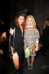 Left to right, PALOMA FAITH and KIM O'NEILL at The Love Ball hosted by Natalia Vodianova and Lucy Yeomans to raise funds for The Naked Heart Foundation held at The Round House, Chalk Farm, London on 23rd February 2010.