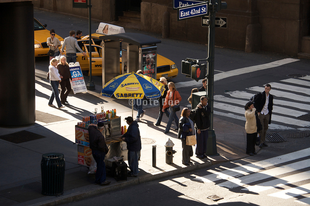 NYC scene at the corner of East 42nd street and Park Avenue across from Grand Central Station