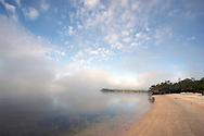 Morning fog clears on White Horse Key, Everglades