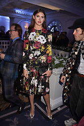 Sabrina Percy at reception to celebrate the launch of the Claridge's Christmas Tree 2017 at Claridge's Hotel, Brook Street, London England. 28 November 2017.<br /> Photo by Dominic O'Neill/SilverHub 0203 174 1069 sales@silverhubmedia.com