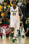 WACO, TX - DECEMBER 9: Taurean Prince #21 of the Baylor Bears celebrates after a made basket against the Texas A&M Aggies on December 9, 2014 at the Ferrell Center in Waco, Texas.  (Photo by Cooper Neill/Getty Images) *** Local Caption *** Taurean Prince
