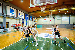 Players during basketball match between ZKK Triglav Kranj and ZKD Maribor in Round #1 of 1. Slovenian Woman basketball league, on February 20, 2018 in ŠD Planina, Kranj, Slovenia. Photo by Ziga Zupan / Sportida