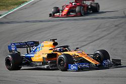 March 1, 2019 - Barcelona, Catalonia, Spain - the McLaren of Carlos Sainz and the Ferrari of Sebastian Vettel during the Formula 1 test in Barcelona, on 01 March 2019, in Barcelona, Spain. (Credit Image: © Joan Valls/NurPhoto via ZUMA Press)