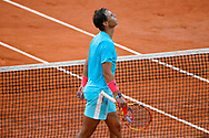 Rafael NADAL (ESP) won the match, celebration during the Roland Garros 2020, Grand Slam tennis tournament, on October 9, 2020 at Roland Garros stadium in Paris, France - Photo Stephane Allaman / ProSportsImages / DPPI