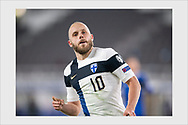 Teemu Pukki scores his second goal of the match after a 50-meter run past two defenders. Finland - Bosnia and Herzegovina. World Cup qualification. Helsinki, March 24, 2021.