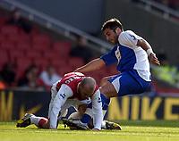 Photo: Olly Greenwood.<br />Arsenal v Blackburn Rovers. The FA Cup. 17/02/2007. Arsenal's Freddie Ljungberg and Blackburn's Zurab Khizanishvili
