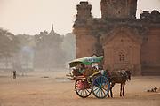 Horse and trap taxi service, Bagan, Manmar