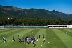 July 4, 2018 - Gelendzhik, Russia - 180704 The Swedish national football team is gathered at a practice session during the FIFA World Cup on July 4, 2018 in Gelendzhik..Photo: Petter Arvidson / BILDBYRÃ…N / kod PA / 92081 (Credit Image: © Petter Arvidson/Bildbyran via ZUMA Press)