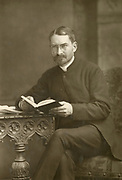 'Huch Price Hughes (1847-1902) Welsh-born British Methodist theologian and social reformer and founder of ''The Methodist Times'', pictured c1890.'
