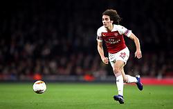 Arsenal's Matteo Guendouzi during the UEFA Europa League round of 32 second leg match at the Emirates Stadium, London.