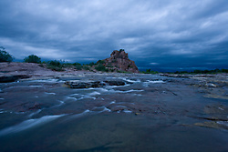 Stock photo of an early morning at Eagle Rock along the Llano River in the Texas Hill Country