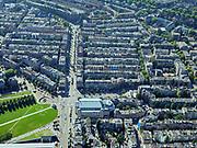 Nederland, Noord-Holland, Amsterdam, 02-09-2020; Amsterdam-Zuid, Van Baerlestraat met Concertgebouw.<br /> <br /> luchtfoto (toeslag op standard tarieven);<br /> aerial photo (additional fee required);<br /> copyright foto/photo Siebe Swar