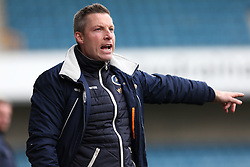 4 March 2017 - League One Football - Millwall v Milton Keynes Dons<br /> Millwall manager Neil Harris shouts instructions from the sidelines<br /> Photo: Charlotte Wilson