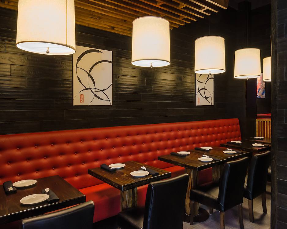 Architectural photographs of Sachi Asian Bistro at 713 2nd Ave, New York, NY.
