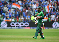 Cricket - 2019 ICC Cricket World Cup - Group Stage: Bangladesh vs. India<br /> <br /> Bangladesh's Soumya Sarkar dejected as he is caught by India's Virat Kohli off the bowling of Hardik Pandya for 33, at Edgbaston<br /> <br /> COLORSPORT/ASHLEY WESTERN