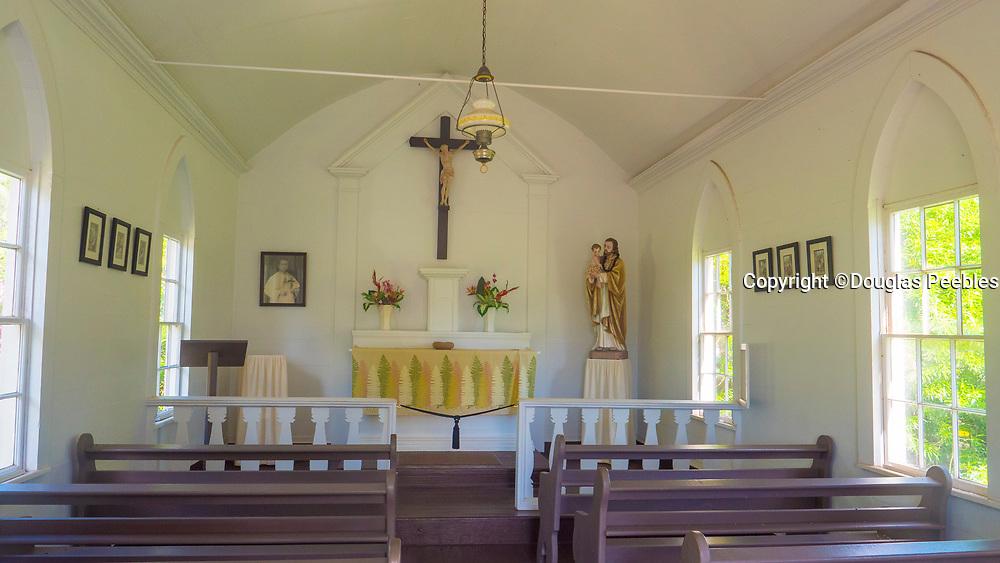St. Damien's Saint Joseph Church, 1876, Kamalo, Molokai, Hawaii