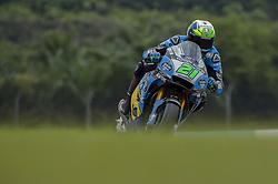 November 3, 2018 - Sepang, Malaysia - EG 0,0 Marc VDS MotoGP rider Franco Morbidelli of Italy powers the bike during during free practice 3 session of Malaysian Motorcycle Grand Prix at Sepang International Circuit in Sepang, November 3, 2018. (Credit Image: © Zahim Mohd/NurPhoto via ZUMA Press)