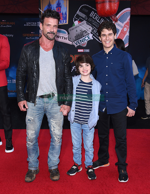 """Hunter Schafer, Alexa Demie and Barbie Ferreira at the """"Spider-Man: Far From Home"""" world premiere held at the TCL Chinese Theatre IMAX on June 26, 2019 in Hollywood, CA. © O'Connor/AFF-USA.com. 26 Jun 2019 Pictured: Frank Grillo. Photo credit: O'Connor/AFF-USA.com / MEGA TheMegaAgency.com +1 888 505 6342"""