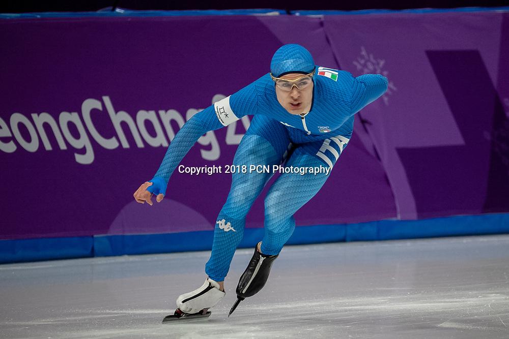 Nicola Tumolero (ITA) competing in the men's  5000m speed skating at the Olympic Winter Games PyeongChang 2018