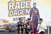 De Jumbo Racedagen, driven by Max Verstappen op Circuit Zandvoort. / The Jumbo Race Days, driven by Max Verstappen at Circuit Zandvoort.<br /> <br /> Op de foto / On the photo:  Max Verstappen , Daniel Ricciardo en David Coulthard
