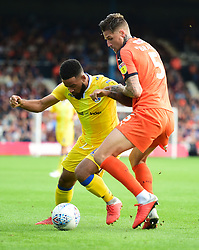 Alex Jakubiak of Bristol Rovers shields the ball from Sonny Bradley of Luton Town - Mandatory by-line: Alex James/JMP - 15/09/2018 - FOOTBALL - Kenilworth Road - Luton, England - Luton Town v Bristol Rovers - Sky Bet League One