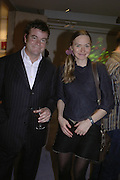 Steven Heffer and Juliet Svetlichnaja, The Real McCoy. Christmas party and charity art sale. Collyer Bristow. Bedford Row. London. 6 December 2006.  ONE TIME USE ONLY - DO NOT ARCHIVE  © Copyright Photograph by Dafydd Jones 248 CLAPHAM PARK RD. LONDON SW90PZ.  Tel 020 7733 0108 www.dafjones.com