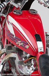 """""""Ness Cafe,"""" built by Arlen Ness. The bike made the cover of Cycle World in June 1991. Started as a stock H-D XR1000.<br /> <br /> Appears in the Arlen Ness book """"The King of Choppers,"""" by Michael Lichter and Arlen Ness"""