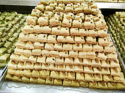 Baklava sweet Middle Eastern pastries. Photographed in Israel