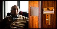 30092008. Portrait de Raymond AUBRAC, 94 ans, de son vrai nom Raymond Samuel, ancien rŽsistant et mari de Lucie AUBRAC, chez lui ˆ Paris.