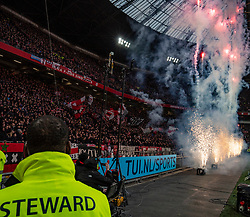 02-02-2020 NED: Ajax - PSV Eindhoven, Amsterdam<br /> Fireworks before the match between Ajax and PSV at Johan Cruyff Arena on February 02, 2020 in Amsterdam, Netherlands