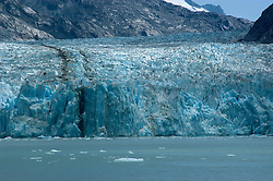 Alaska, Cruising the Southeast wilderness waterways on the Spirit of Discovery.  Endicott Arm and Dawes Glacier, scenery, glacier and cruise ship..Photo #: alaska10589 .Photo copyright Lee Foster, 510/549-2202, lee@fostertravel.com, www.fostertravel.com.