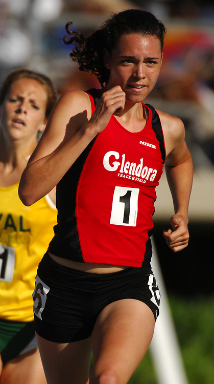 Christy Adamyk of Glendora wins the Division I girls' 3,200 meters in 10:31.93 in the CIF Southern Section Track & Field Finals at Cerritos College in Norwalk, Calif. on Saturday, May 20, 2006.