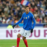 PARIS, FRANCE - March 25:  Raphaël Varane #4 of France in action during the France V Iceland, 2020 European Championship Qualifying, Group Stage at  Stade de France on March 25th 2019 in Paris, France (Photo by Tim Clayton/Corbis via Getty Images)