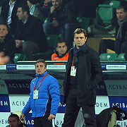 Bursaspor's coach Ertugrul Saglam during their Turkish soccer super league match Bursaspor between Fenerbahce at Ataturk Stadium in Bursa Turkey on Monday, 12 December 2010. Photo by TURKPIX