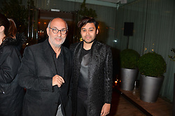 Left to right, ALAN YENTOB and PABLO GANGULI at the Liberatum Cultural Honour For Sir Terence Conran Dinner held at the Sanderson Hotel, Berners Street, London on 19th November 2013.