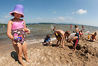 "A great day to ""beat the heat""  and enjoy the lake at Ellacoya State Beach Friday, July 22, 2011."