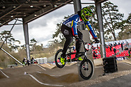 #5 (CAMPO Alfredo) ECU at the 2018 UCI BMX Superscross World Cup in Saint-Quentin-En-Yvelines, France.