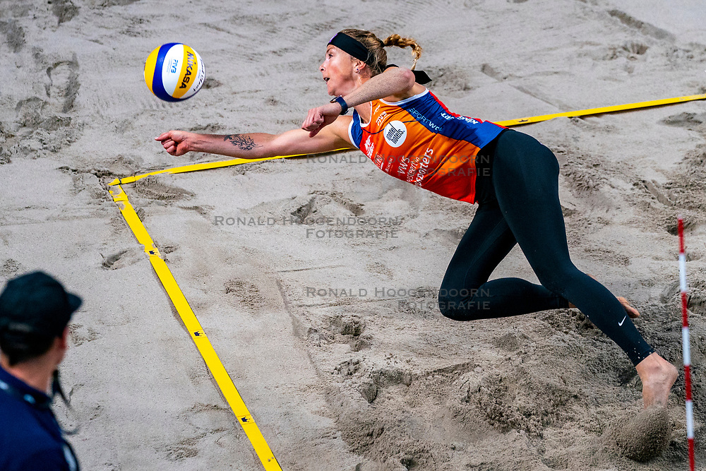 Madelein Meppelink during the second day of the beach volleyball event King of the Court at Jaarbeursplein on September 10, 2020 in Utrecht.