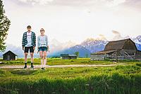 Jimmy Smith and Rita Jett, Mormon Row, Grand Teton National Park, Wyoming.