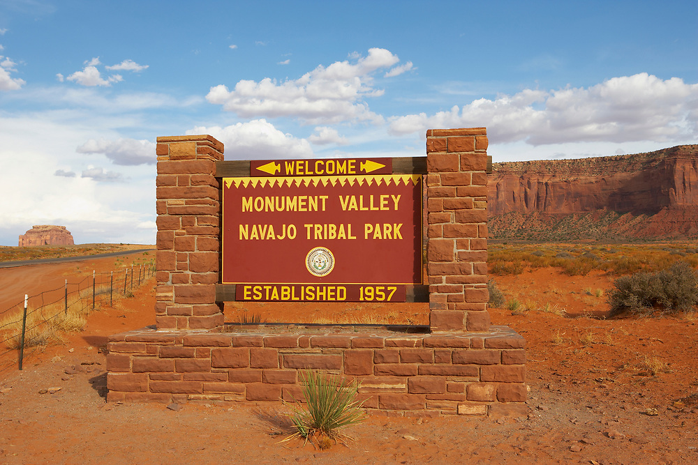Monument Valley Sign, Navajo Tribal Park, Utah-Arizona border