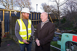 Pictured: Kevin Lorimer, who worked on the project, had a chat with Kevin Stewart<br /> When visiting Greenside House, a newly redevolped 36,000 square feet of Grade A office accommodation, in Edinburgh today  Housing minister Kevin Stewart unveiled details of an GBP8.9 million award to refurbish office space.<br /> <br /> Ger Harley | EEm 28 February 2017