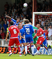 Photo: Ed Godden.<br />Swindon Town v Stockport County. Coca Cola League 2. 26/08/2006. Stockport keeper James Spencer keeps the ball out.