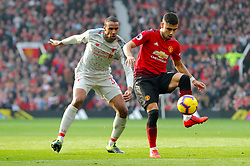 Manchester United's Andreas Pereira (right) in action