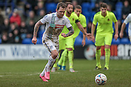 James Norwood (Tranmere Rovers) takes the penalty during the Vanarama National League match between Tranmere Rovers and Southport at Prenton Park, Birkenhead, England on 6 February 2016. Photo by Mark P Doherty.