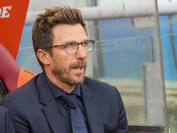 September 23, 2017 - Rome, Italy - Eusebio Di Francesco, during the Italian Serie A football match between A.S. Roma and Udinese at the Olympic Stadium in Rome, on september 23, 2017. (Credit Image: © Silvia Lore/NurPhoto via ZUMA Press)