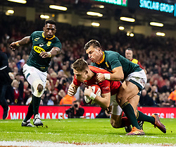 Liam Williams of Wales scores his sides second try<br /> <br /> Photographer Simon King/Replay Images<br /> <br /> Under Armour Series - Wales v South Africa - Saturday 24th November 2018 - Principality Stadium - Cardiff<br /> <br /> World Copyright © Replay Images . All rights reserved. info@replayimages.co.uk - http://replayimages.co.uk