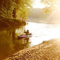Paddling the Potomac near Whites Ferry